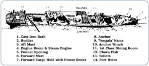 SS Yongala Ship Layout